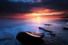 sunset-sea-shore-wallpaper-water-clouds-beach-sky-ocean-coast-stone-beaches-rock-pomeranian-desktop-dog-cute-images-nature